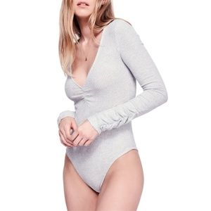🐇 Free People Cozy Up With Me Bodysuit